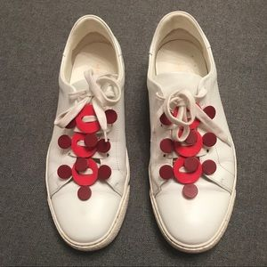 Anya Hindmarch White Leather Sneakers